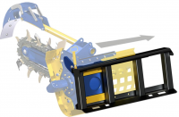 Side Shift Trencher Frame