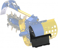 Mini loader TRENCHER FRAME