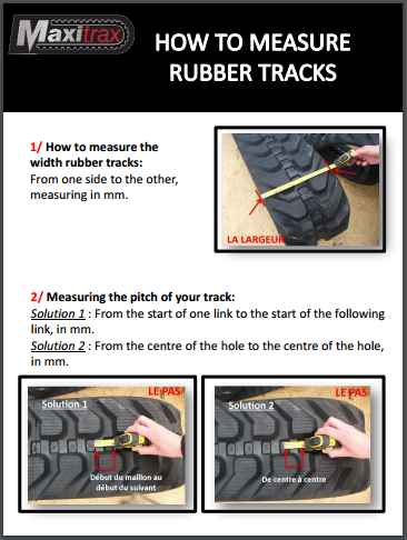 How to measure rubber tracks