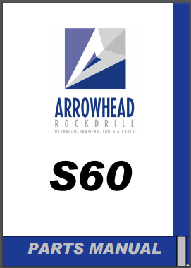 Arrowhead S60 hydraulic hammer parts manual
