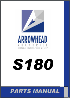 Arrowhead S180 hydraulic hammer parts manual