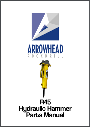 Arrowhead R45 Hydraulic hammer parts manual