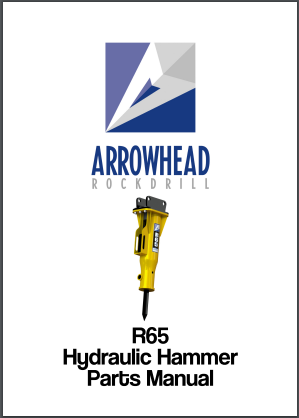 Arrowhead R65 Hydraulic hammer parts manual