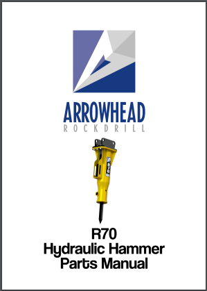 Arrowhead R70 Hydraulic hammer parts manual