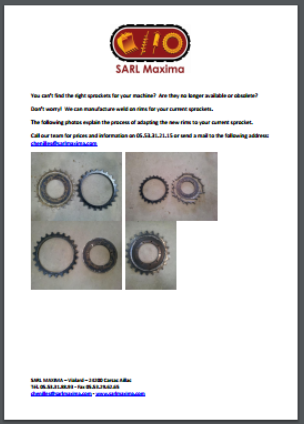 Guide to changing sprocket rims